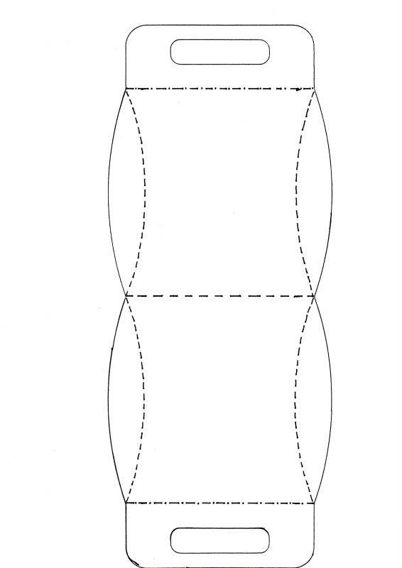Patroon van doosje | Patronen | Annet4Crea