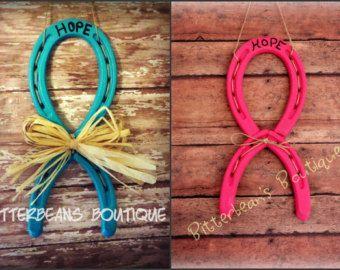 Horseshoe Arts and Crafts - Bing Images | Horseshoe awareness ribbons