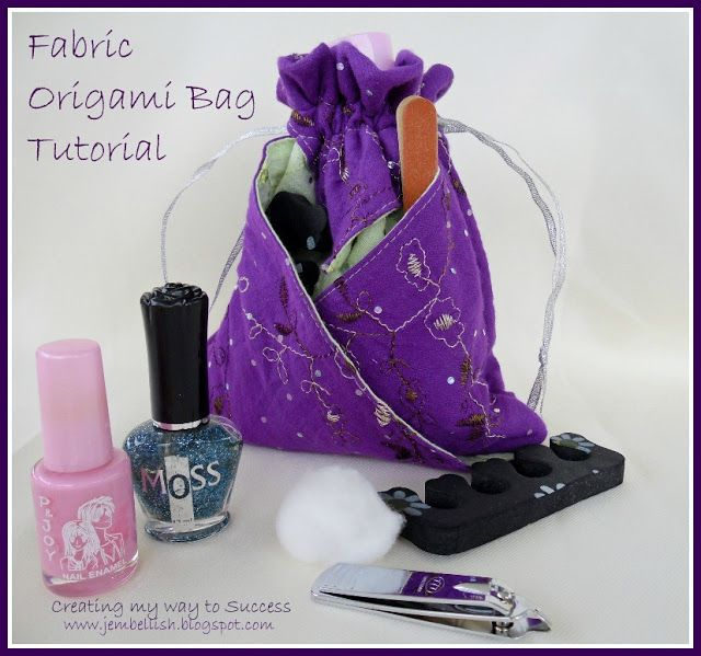 Fabric Origami Bag - photo tutorial - simple to make, great for gift giving or just to keep for yourself!