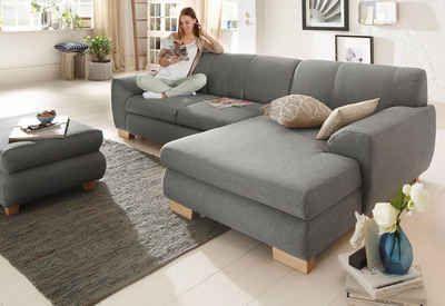 Home affaire »Nika« Polsterecke, Struktur fein oder Melrose/Struktur, wahlweise mit Bettfunktion    #couch #sofa #ecksofa #polsterecke #wohnzimmer #inspo #interior #einrichtung #polstermöbel #möbel #schlafsofa