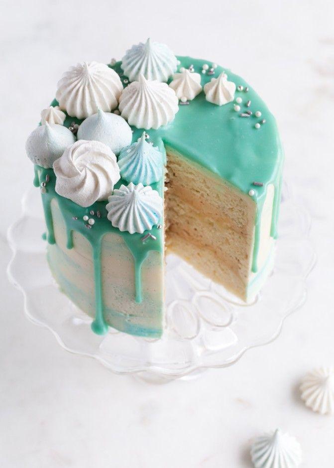 Winter Wonderland Cake - Vanilla bean cake with gingerbread butter ...