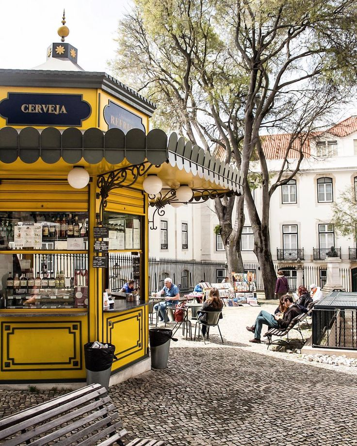 Even the snack kiosks are beautiful!  Lisbon