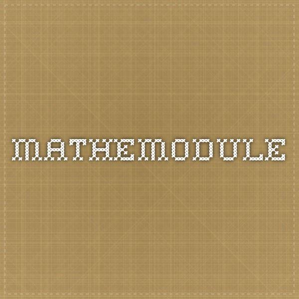 Mathemodule