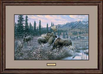 Out of the Mist-Moose Art Print by Michael Sieve | Wild Wings