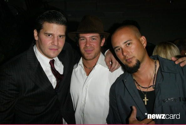 David Boreanz  Christian kane and Cris Judd at Jessica Meisels,Andrew Levitas and Jack Heller Birthday Party in  West Hollywood, California 2003-09-06