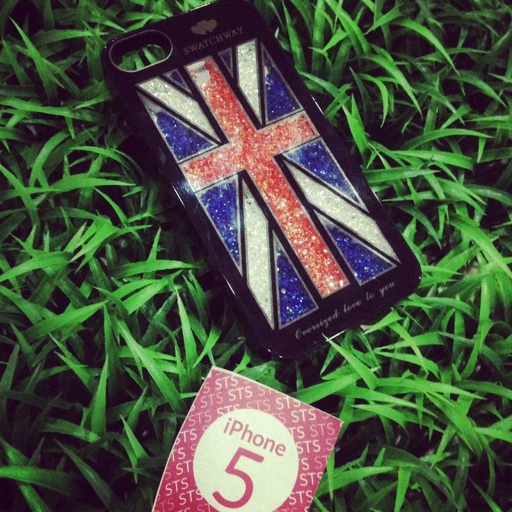 UK flag, bling case, for iphone 5, IDR175.000