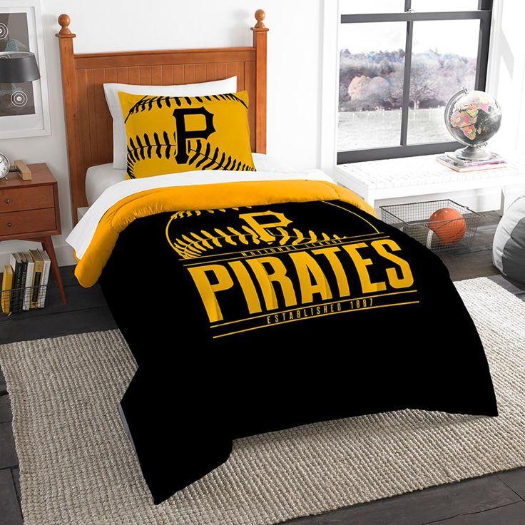 "Pittsburgh Pirates Mlb Twin Comforter Set (grand Slam Series) (64"" X 86"")"