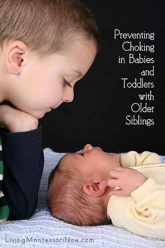 Preventing Choking in Babies and Toddlers with Older Siblings (tips on preventing choking in general plus Montessori-inspired tips on preventing choking when older siblings have learning activities with small objects)