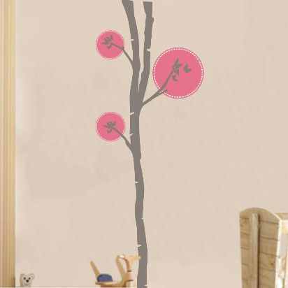 Butterflies tree 2 , Γκρι κορμός, αυτοκόλλητο τοίχου,19,96 €,http://www.stickit.gr/index.php?id_product=3052&controller=product