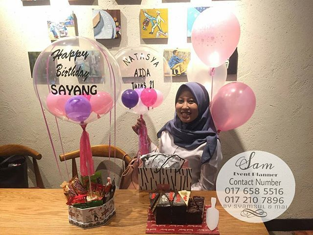 Happy Birthday Natasya Aida . Officially turns 21 😍 .  Second Surprise delivery from your love .  Hihihi . Pm us for the bubble balloon price 😉  Please Do Get our contact number OR direct click on our whaatsaap link in bio TO PLACE YOUR ORDER AND GET MORE INFO 😉…