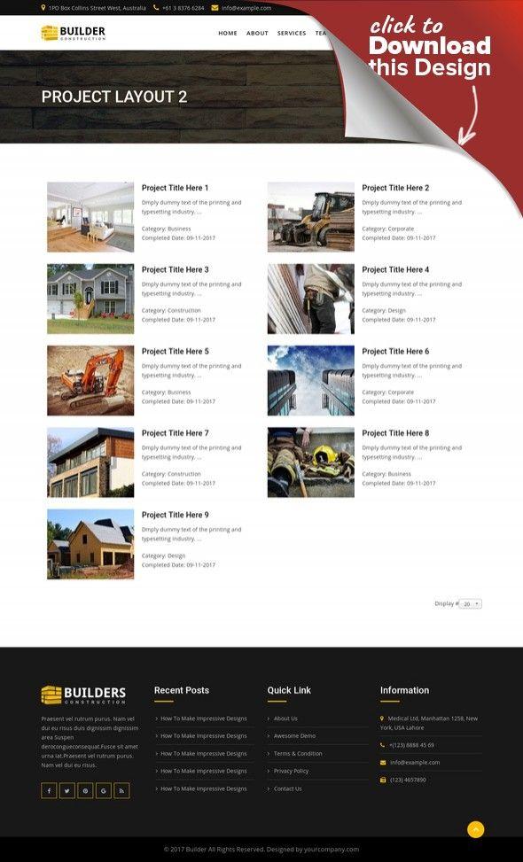 Builder - Construction Company Joomla Template CMS & Blog Templates ...