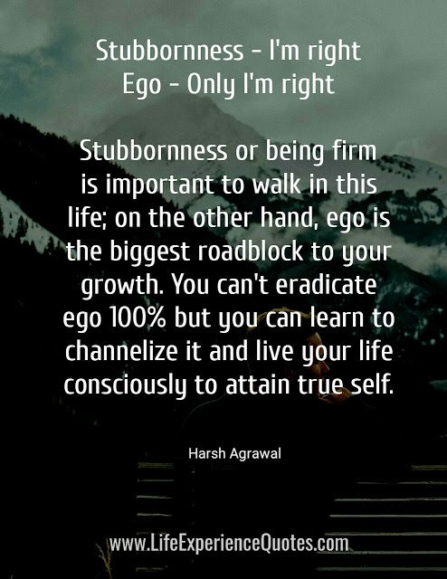 Ego Is The Biggest Roadblock To Your Growth Motivational Quotes