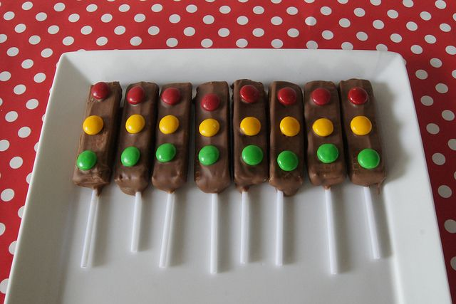 traffic light party treat by planningqueen, via Flickr