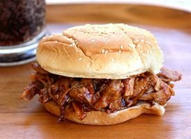 Slow Cooker Root Beer Pulled Pork Sandwiches by girlwhoateeverything: 1 pork tenderloin   1 can root beer   1 bottle BBQ sauce. SUPER EASY! I made this last night with pork shoulder instead. Great fix it and forget it type recipe. Meat was falling off the bone tender. Another pinterest win!