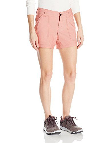 Columbia Women's Pilsner Peak Shorts, Coral, Size 2 * Click image for more details. #WomensCampingClothing