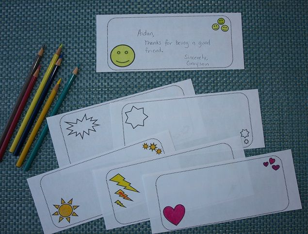Scrapbook Slips - Give these black and white slips to children to write notes or compliments to classmates to include in end-of-year scrapbooks, a class compliment jar, or gratitude board. They can also be used for tickets or bookmarks. Have children give them a pop of color using colored pencils or markers. Free!
