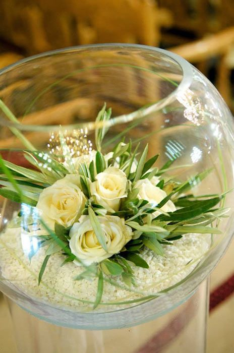 Cnterpiece in a bowl - Olive themed Wedding in Athens Greece | Uploaded by Concept Events Planning