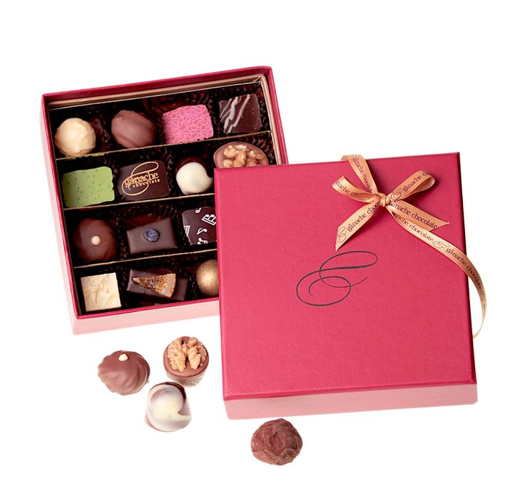 A classic gift box filled with 16 of our finest handmade chocolates including delicious ganaches, soft caramels, hazelnut pralines and delightful marzipans.  $35.00  http://www.ganache.com.au/chocolate-boxes/deluxe-box-16-pralines.html