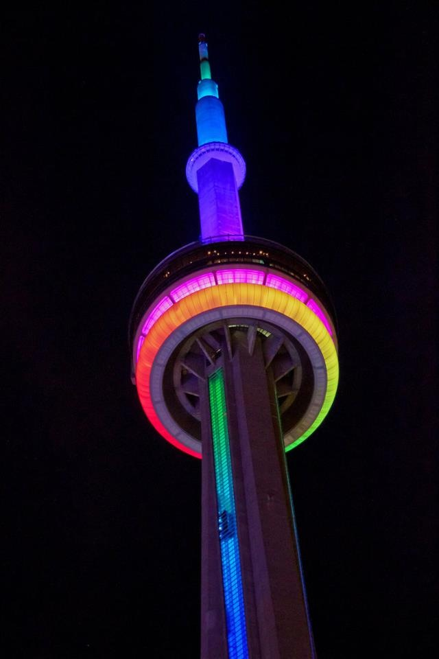 CN Tower dressed in pride.