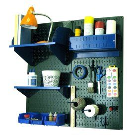 Wall Control 32-In W X 32-In H Green/Blue Steel Garage Storage System 30-Cc-200 Gnbu