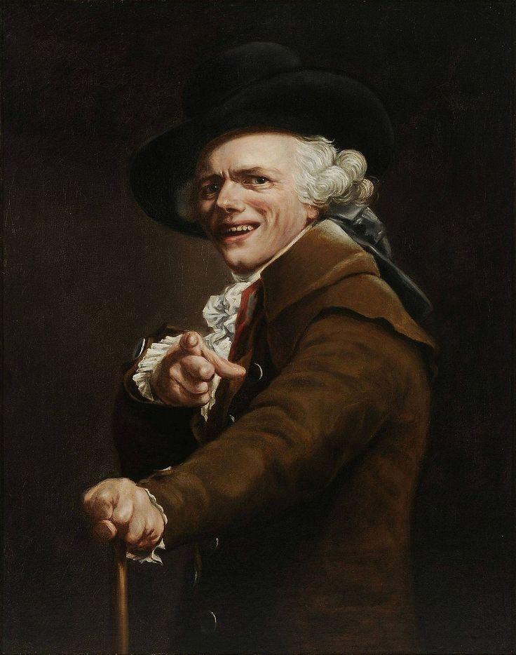 Joseph Ducreux - Portrait de l'artiste sous les traits d'un moqueur