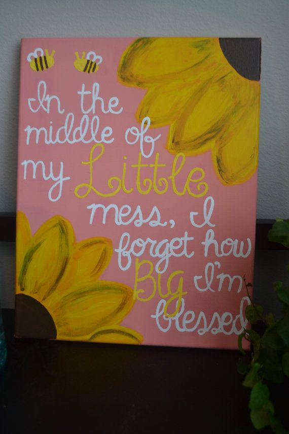 "11x14 Big Little Sorority Canvas ""In the middle of my Little mess, I forget how Big I'm blessed."""
