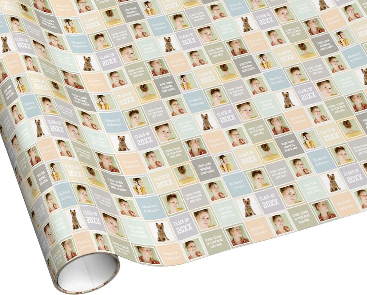 #Graduation Custom Wrapping Paper. easily Add Photos, School Name, Class Year, etc!