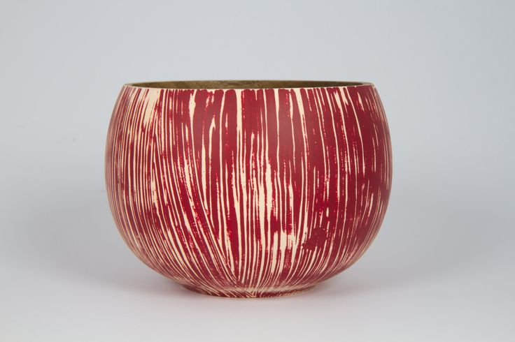 Red Textured Bowl by fromaseedtimberart on Etsy