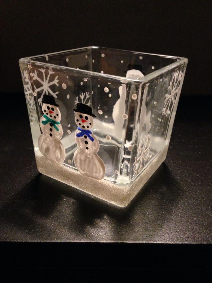 Self made Christmas candle holder