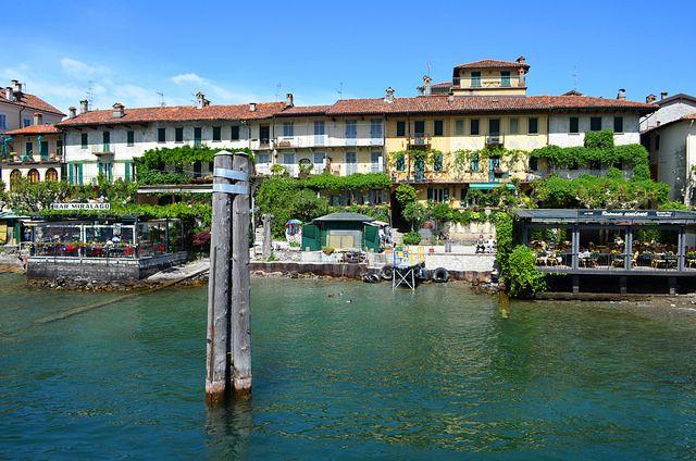 Main promenade, Isola dei Pescatori, Lake Maggiore, Italy