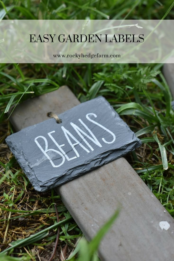 Easy Diy Garden Labels Using Slate And Wood Sharon Fletcher