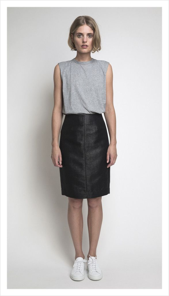 alfie skirt (black onyx suiting)