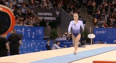 WOGymnastika: Angelina Melnikova On Vault At Cluj EF Final (GIF)
