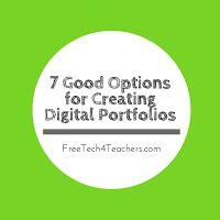 Free Technology for Teachers: 7 Good Options for Building Digital Portfolios - A PDF Handout
