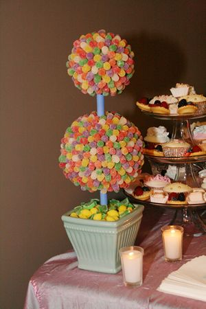 #Candy #Topiary for a #candy #themed #party!