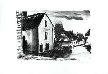 Original signed lithograph by Vlaminck Maurice