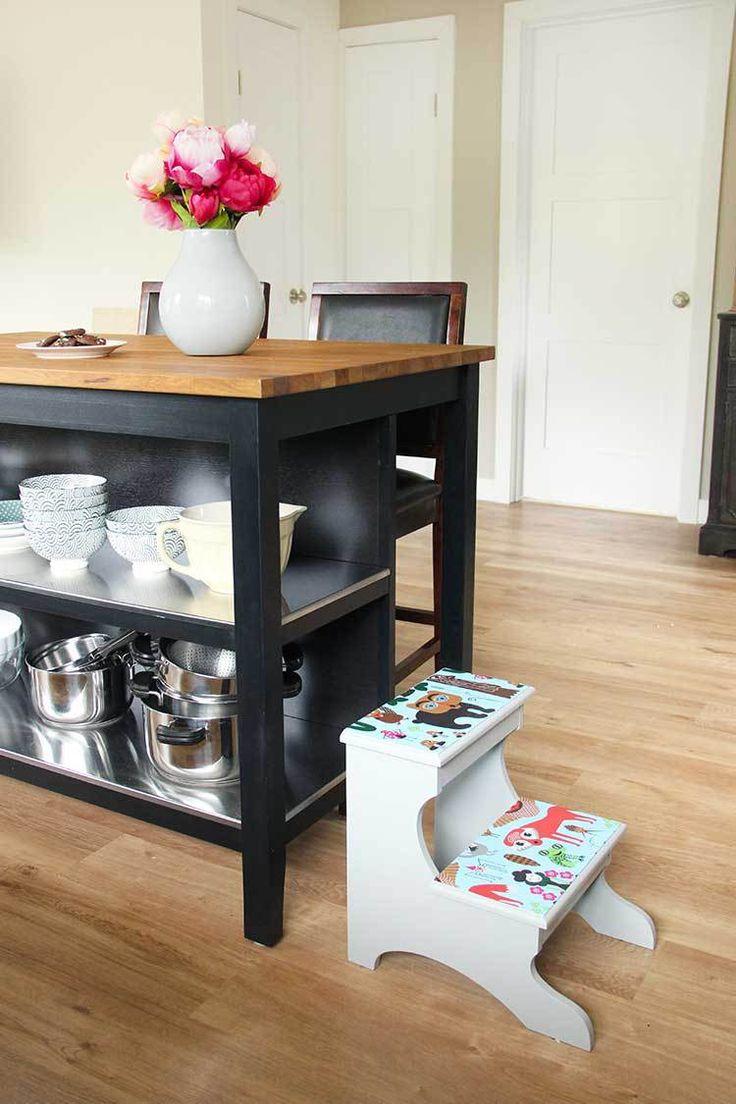 decoupage-step-stool DIY