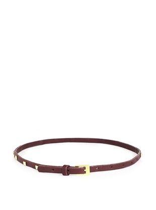 gorjana Women's Bleeker Studded Belt (Burgundy/Gold)