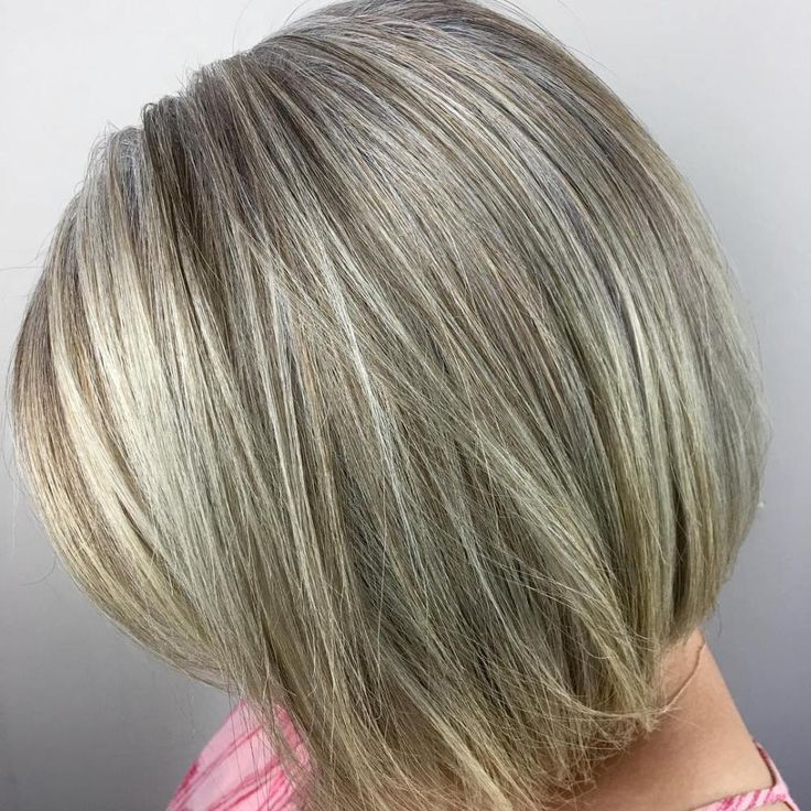 Ash Blonde Bob With Highlights Gorgeous Gray Hair