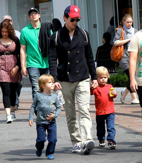 Matt Bomer and his adorable twins...DILF