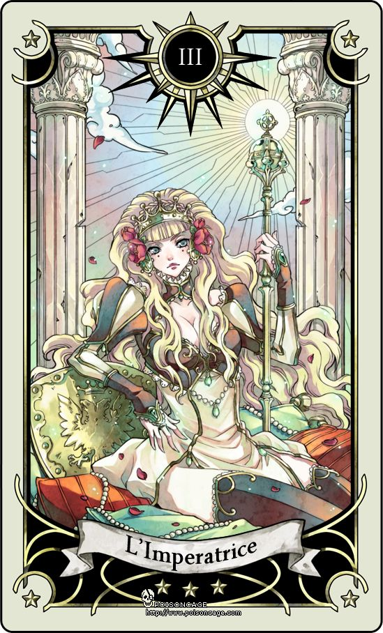 Tarot card 3- the Empress by rann-rann.deviantart.com Motherly, nature, fertility and comfort