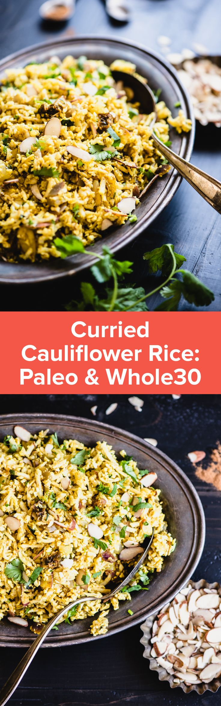 Curried Cauliflower Rice Recipe | StupidEasyPaleo.com