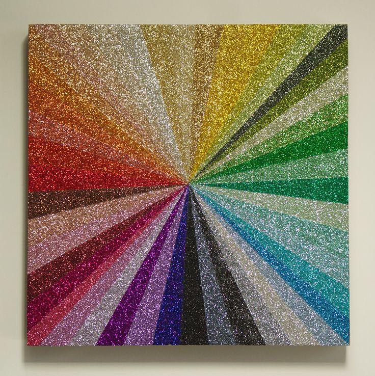 Glitter artIdeas, Glitter Colors, Dollar Trees, Glitter Art, Rainbows, Glitter Crafts, Things, Diy, Glitter Canvas