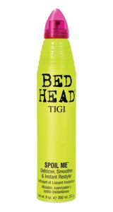 Bed Head's Spoil Me.  If you don't have it you need to get it.  The best restyling tool ever. It also defrizzes and smooths your hair. Lerve.