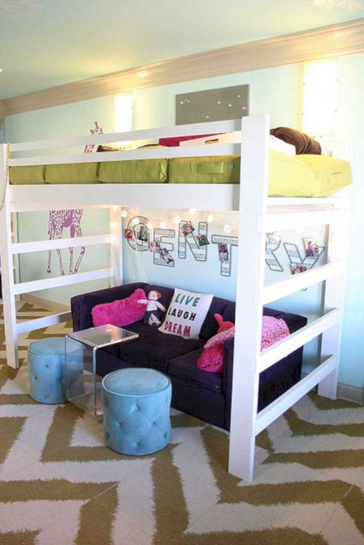 Cute loft bed ideas   best dream house images on Pinterest  Bedroom ideas Child room