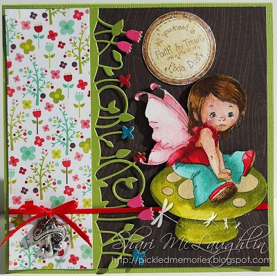 Shari has a beautiful Young Spring Fairy from Whimsy up on the blog.  Check out the blog for more details.