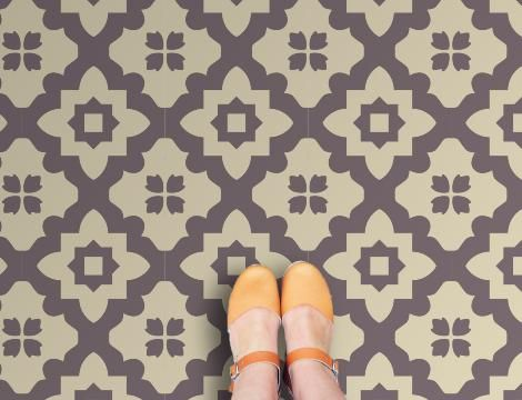 Casablanca Grey Vinyl Flooring: Retro Vinyl Floor tiles for your home