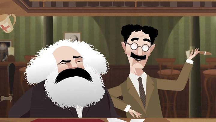 Karl Marx e GrouXo Marx - History Drink   The History Channe