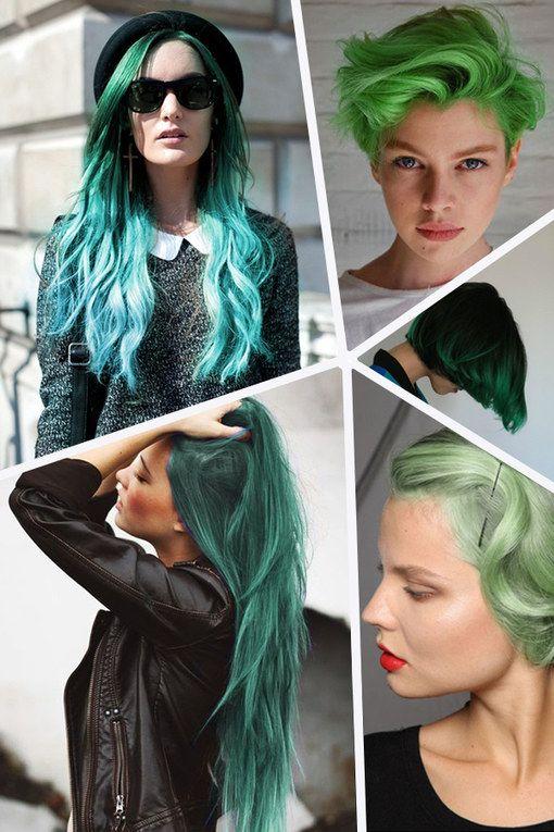 Grün, grün, grün sind alle meine Kleider. Grün, grün, grün ist auch mein Haar? Der neuste Trend unter den Stars, Bloggern und Vloggern sind grüne Haare...