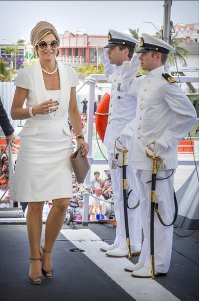 Queens & Princesses - King Willem Alexander and Queen Maxima visited the Netherlands Antilles to celebrate the 200 years of the Kingdom of the Netherlands. Day 2 (Aruba)